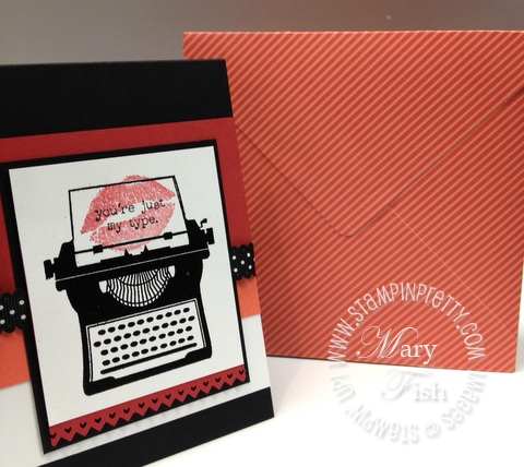 Stampin up mojo monday typewriter rubber stamp punch occasions mini catalog demonstrator blog