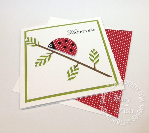 Stampin up punch art lady bug summer smooches demonstrator video tutorial 2