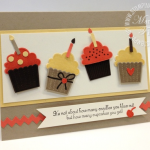Stampin' Up! Birthday Card Cupcakes