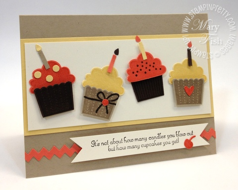Stampin Up Birthday Card Cupcakes Stampin Pretty