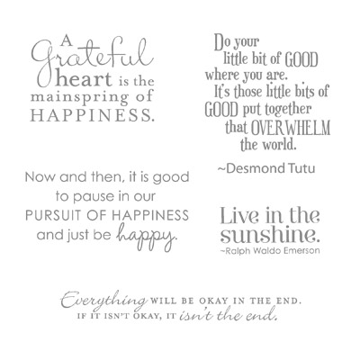 Pursuit of happiness rubber stamps stampin up