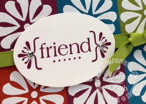 Stampin up retired retiring stamps square punch quilt card idea mojo monday catalog friend