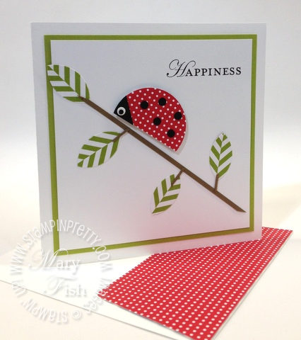 Stampin up punch art lady bug summer smooches demonstrator video tutorial