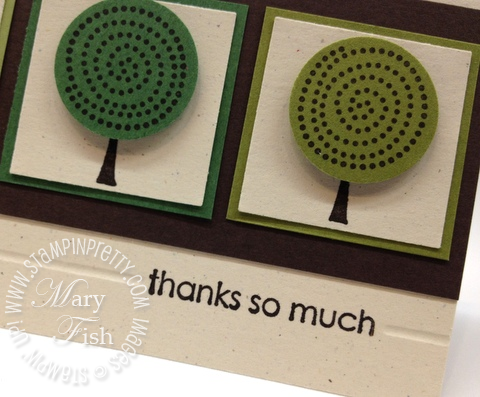 Stampin up retired stamps trendy trees circle punch masculine thank you card simply scored diagonal plate envelope