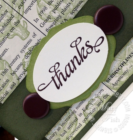 Stampin up retiring stamp accessories list demonstrator blog hop homegrown thank you card