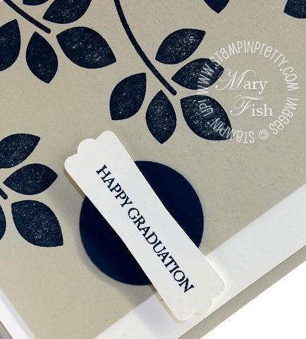 Stampin up rubber stamp demonstrator blog catalog punch graduation card idea