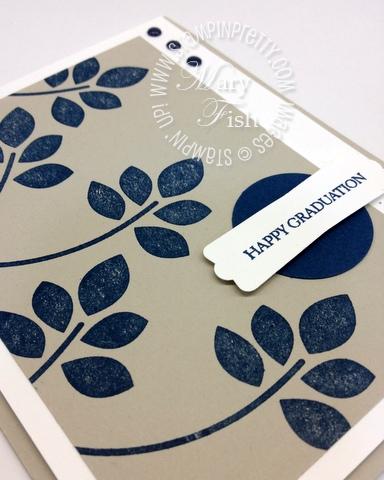 Stampin up rubber stamp demonstrator blog catalogs punch graduation card idea