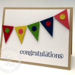 Stampin' Up! Pennant Punch Congrats