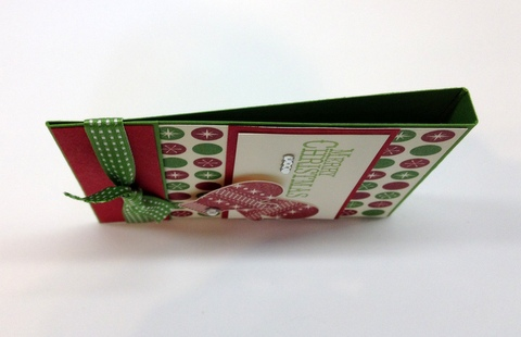 Stampin up demonstrator blog catalog holiday card idea gift matchbook tutorial rubber stamps