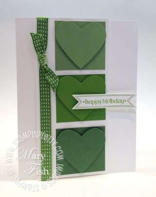 Stampin up in colors new catalog heart punch demonstrator blog comparison gumball green