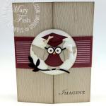 Scholarly Owl Graduation Card Idea