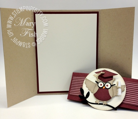Stampin up circle punch owl builder graduation graduate card idea demonstrator blog