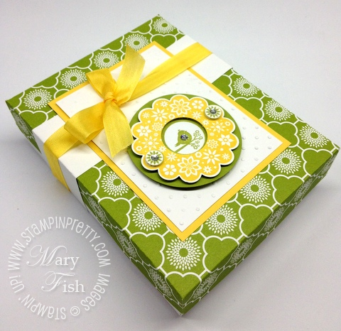 Stampin up stampin pretty demonstrator blog catalog big shot punch a2 box tutorial simply scored
