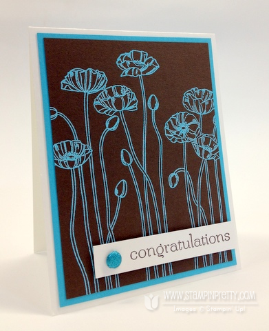 Stampin up pretty demonstrator blog catalog heat embossing congratulations card idea hops