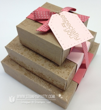 Stampin up pretty demonstrator blog punch simply scored box tutorial