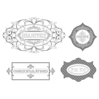 Layered labels rubber stamps stampin up