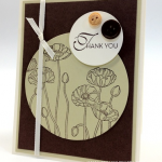 PPA137 Pleasant Poppies Thank You Card
