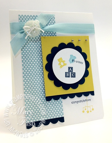 Stampin up demonstrator blog punch baby card idea mojo monday little additions