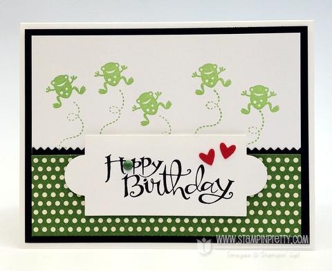 Hoppy Birthday Card For Henry Stampin Pretty