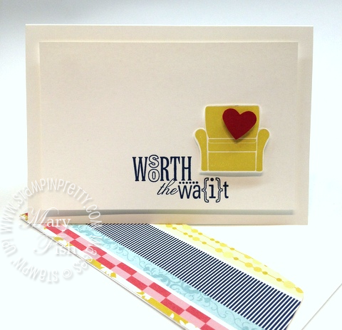 Stampin pretty demonstrator blog catalog punch baby card idea heart