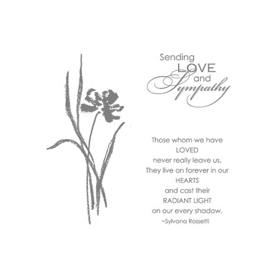 Love and sympathy rubber stamps stampin up