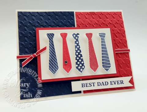 Stampin Up Best Dad Ever Holiday Cards & Ideas Masculine Card Ideas Mary Fish Stampin Pretty Stampinup Demonstrator Blog