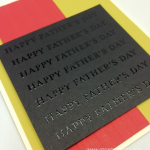 Bold & Embossed Happy Father's Day Card