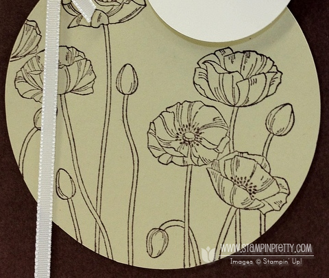 Stampin up demonstrator blog catalog circle punch order online pretty card idea perfect poppies
