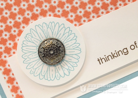 Stampin up demonstrator blog order online quick card idea reason to smile promotion circle punch
