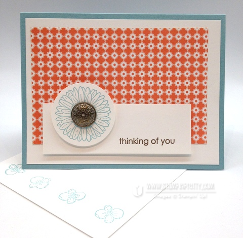 Stampin up demonstrator blogs order online quick card idea reason to smile promotion circle punch