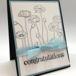 Stampin' Up! Pleasant Poppies Congrats Card