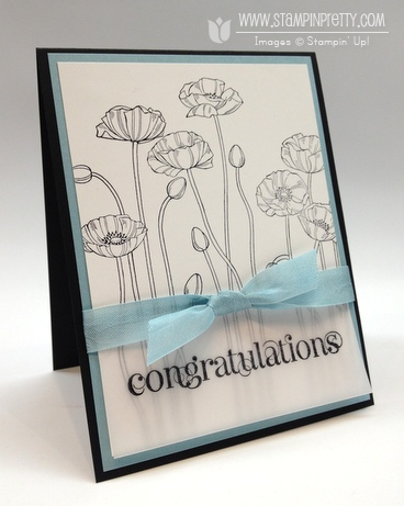 Stampin up pleasant poppies stampin up demonstrator catalog blog simple cards idea
