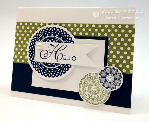 Stampin up pretty demonstrator blog catalog order online circle punch rubber stamps card ideas