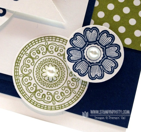 Stampin up pretty demonstrator blog catalogs order online circle punch rubber stamp card idea