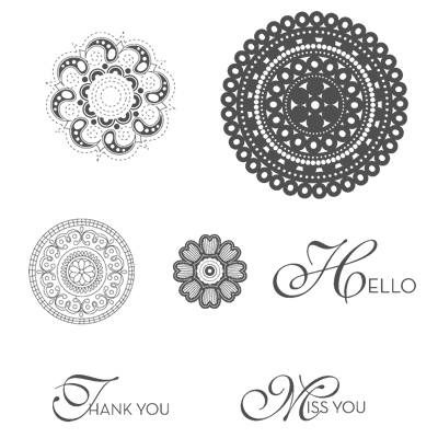 Lacy & lovely rubber stamps stampin up
