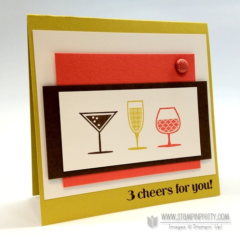 Stampin up happy hour demonstrator blog card idea simply scored diagonal plate make envelope