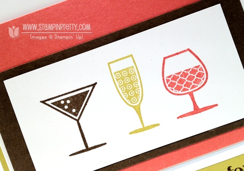 Stampin up happy hour demonstrator blog cards idea simply scored diagonal plate make envelope