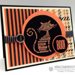 MOJO251:  Frightening Feline Halloween Card