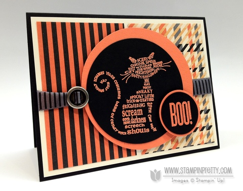 Stampin up halloween card idea holiday catalog mini circle punch demonstrator blogs order online