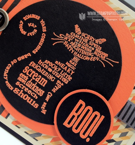 Stampin up halloween card idea holiday catalog mini circle punch demonstrator order online