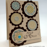 Textile Inspired Lacy & Lovely Card