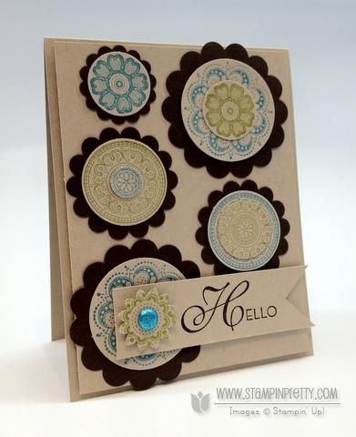 Stampin up demonstrator order online catalog circle punch blog card ideas