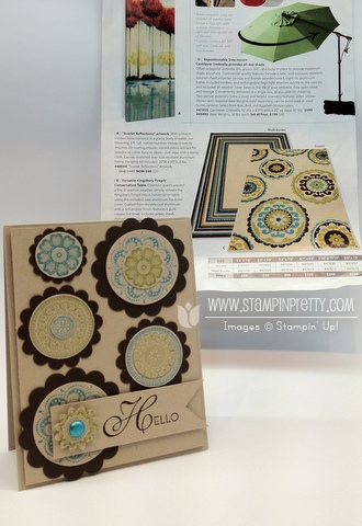 Stampin up demonstrator order online catalog circle punch blog card ideas lacy & lovely