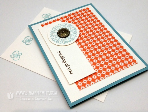 Stampin up demonstrators blog order online quick card idea reason to smile promotion circle punch