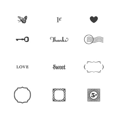 Lovely little labels rubber stamps stampin up