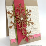 Sneak a Peek at Stampin' Up! Champagne Glimmer Paper