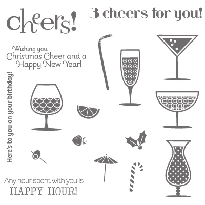 Happy hour rubber stamps stampin up
