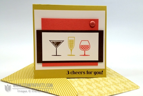 Stampin up happy hour demonstrator blog card ideas simply scored diagonal plate make envelopes