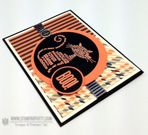 Stampin up halloween card idea holiday catalog mini circle punch demonstrator blog order online