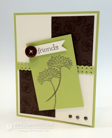 Stampin up order online blog demonstrator border punch reason to smile promotion card idea